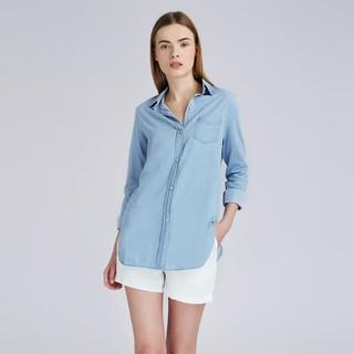 Wheill Denim Shirt Light Blue Lookboutiquestore