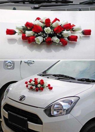 Bunga Plastik Hias Artificial Mobil Pengantin Flower Wedding Car 13 bp765