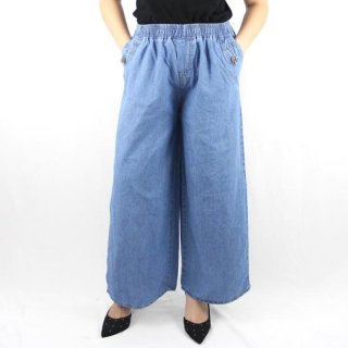 Fidelis Soft Jeans Celana Kulot Wanita