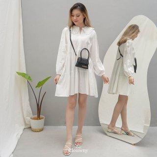 CLOUWNY - Dress Midi Wanita Duches Dress