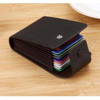 Dompet Kartu Kredit Vertical Leather Credit Card Holder Wallet
