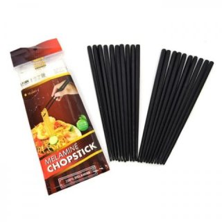 Golden Dragon Chopstix Sumpit Melamin - Hitam