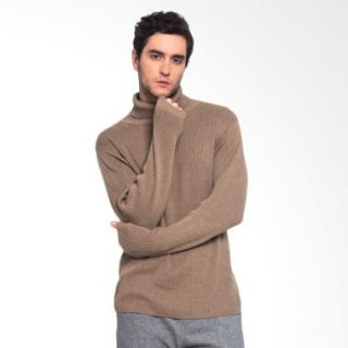 Noir Sur Blanc Turtleneck Sweater Pria - Brown