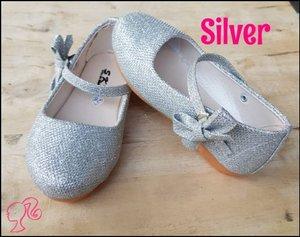 Sepatu Anak Perempuan Sepatu Pesta Anak Pita Samping