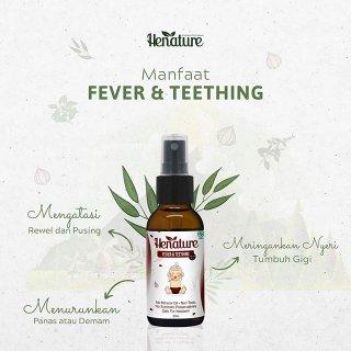 Henature Fever & Teething Penurun Panas Demam Bayi Essential Oils