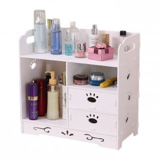 Double Drawer Cosmetic Storage Rak Kosmetik Tapak Pupies M752