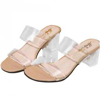 Sandal Hak Kaca Heels Chunky R 38 PLM-03
