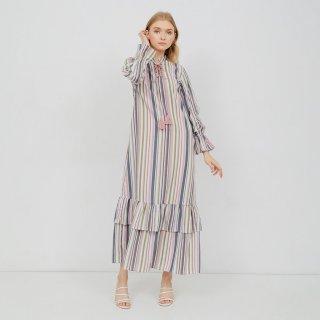 SIMPLICITY Color Stripes Bohemian Maxi Dress