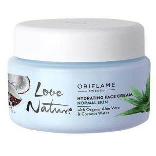 Love Nature Hydrating Face Cream with Organic Aloe Vera & Coconut Water