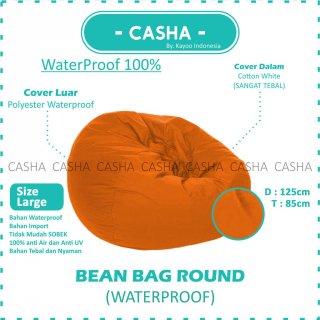 BEAN BAG plus isi PUMPKIN - ROUND WATERPROOF