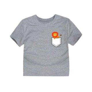 LittleFresco Lion Fresco T-shirt Grey