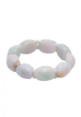 Celline Silver Turtle Jade Bracelet