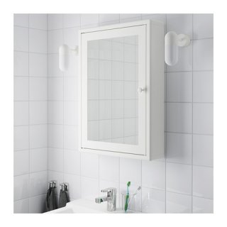 JE Rak Dinding Kamar Mandi DN59 dengan Cermin