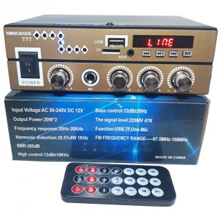 Amplifier New Aiwa 777 Bluetooth Stereo Karaoke + Mp3 player + FM Radio