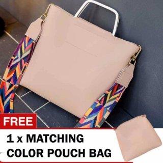Montana  2in1 Ribbon Strap Shoulder Bag Pink