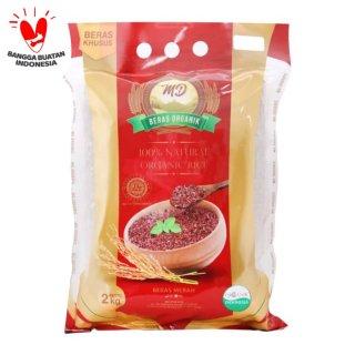 Beras Merah MD Organic 2kg