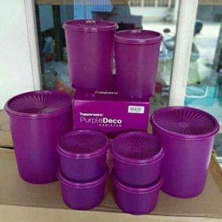 Deco Canister Toples Ungu Purple 1 Set Tupperware