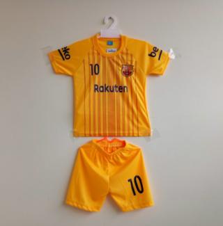 Baju Bola Anak Barca Kuning