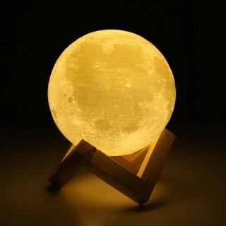 Lampu Tidur Dekorasi Rumah Unik Bentuk Bulan 3D Moonlight