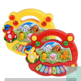 Mainan Edukasi Piano Motif Peternakan Hewan