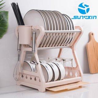 Sunxin - Rak Piring 2 Susun Plastik -2115