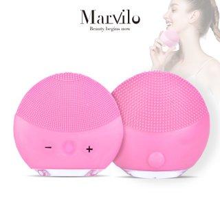 Marvilo Pembersih Wajah Elektrik Waterproof Bentuk Bulat