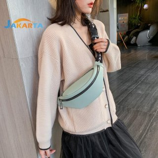 Fanny Chest Belt Bag Women Leather