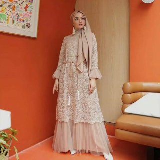 Humaira Dress | Agnia Maxi Brokat | Gamis Larky Kebaya