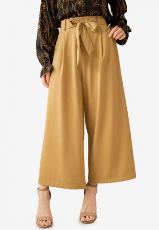Kodz - High Waist Wide Leg Long Pants