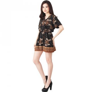 Flike Store - Jumpsuit Celana Pendek Motif Awan Peten