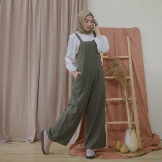 Lozy Hijab - Lilac Linen Jumpsuit