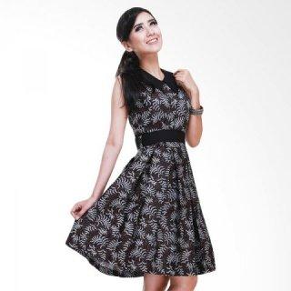 Balin Zarada Tanpa Lengan Dress Batik Wanita