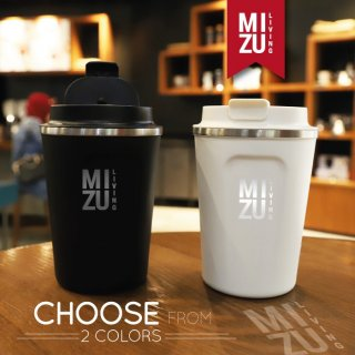 MIZU LIVING 380ml Coffee Tumbler Vacuum Thermos Hot & Cold Stainless Steel Cup Mug