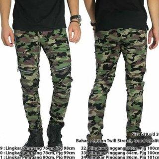 Biker jeans army/biker jeans/celana biker pria