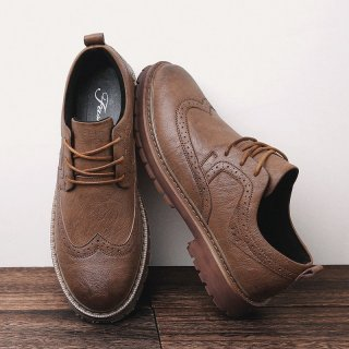 Autumn New Men Martens Shoes Brogue Casual Shoes Men