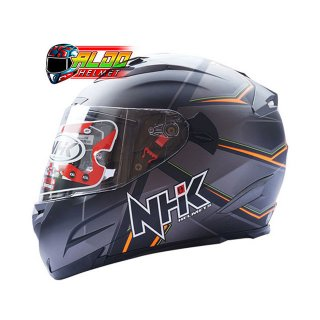 NHK Full Face RX 9 Motif Hawk Black Doff Orange