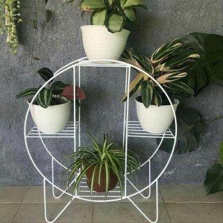 Rak Pot Bunga Besi Lingkaran Minimalis
