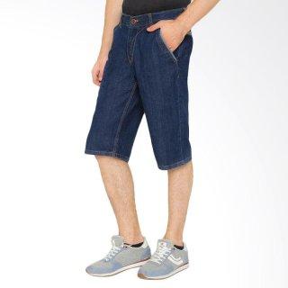 DJ Jeans Jeans Dark Blue Jeans Celana Pendek Pria DJ-50
