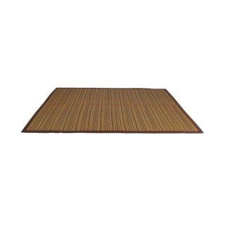 Karpet Igusa Hagihara Motif Lurik Cokelat