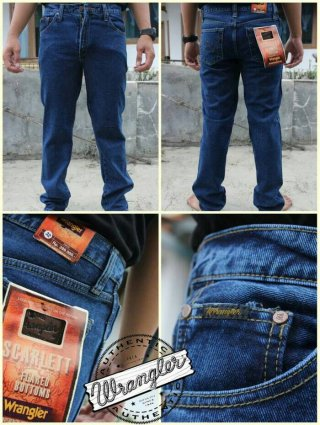 Celana Jeans Branded Wrangler Standar/Regular Biowash