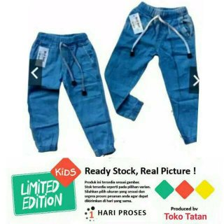 Celana Panjang Jeans Anak JOGER JEANS POLOS 1-9 tahun