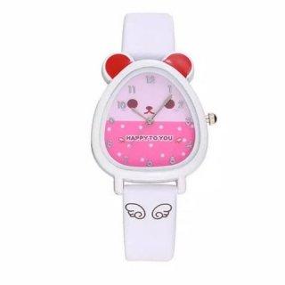 Jam Tangan Anak Perempuan Anti Air - Ungu Pink Merah Putih Biru