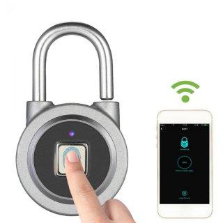 Bt Sidik Jari Smart Kunci Tanpa Kunci Tahan Air Aplikasi/Sidik Jari Membuka Anti-Theft Pintu Gembok Sarung Koper Kunci untuk Android IOS Sistem biru