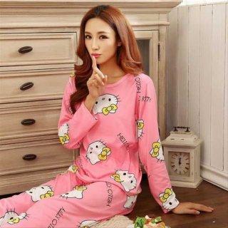Baju Tidur Piyama Kitty Pink / Lucu