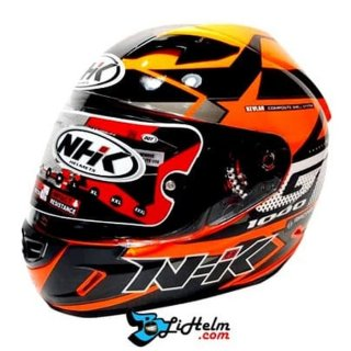 NHK Full Face GP1000 Star Orange Fluo