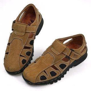 Sepatu Sendal Pria Casual Kulit Asli Closed Toe Like Fisherman Sendal 305
