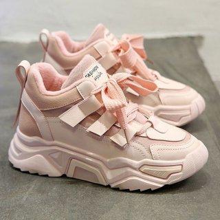Sepatu Sport Kasual Wanita Sneakers Tali