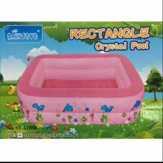 Sainteve Rectangle Crystal Pool - Pink