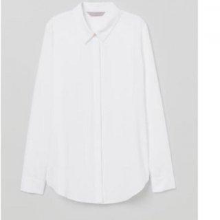 Kemeja HnM Women White Basic Shirt