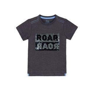 Mothercare Black Reversible-Sequin Roar T-shirt